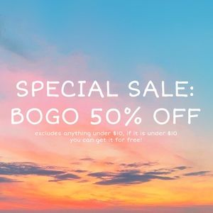 BOGO 50% OFF SALE IS BACK
